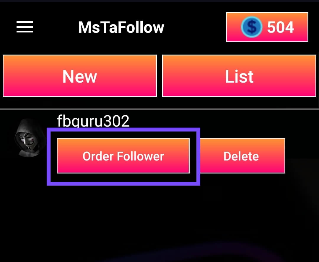 Order Real Followers