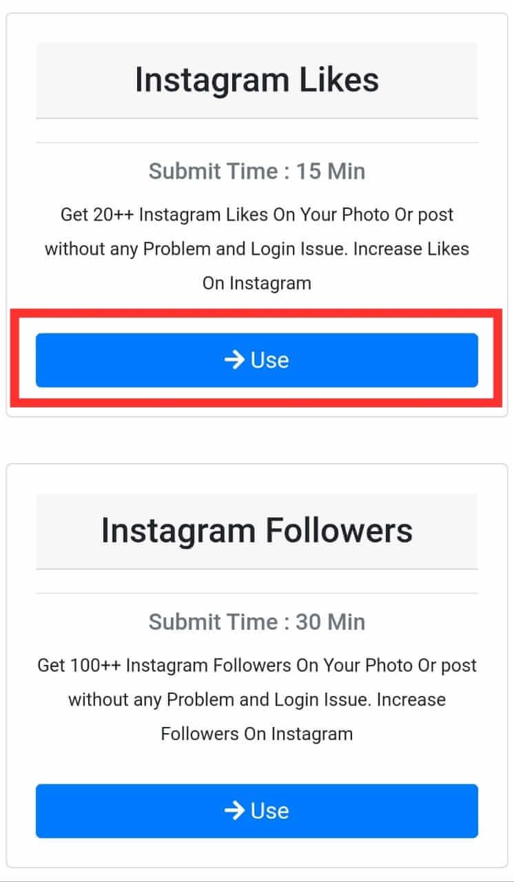 Use Instagram Likes