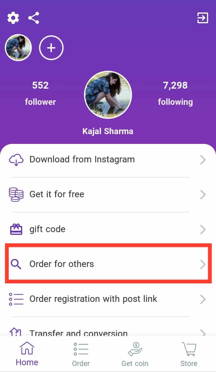 Order For Others