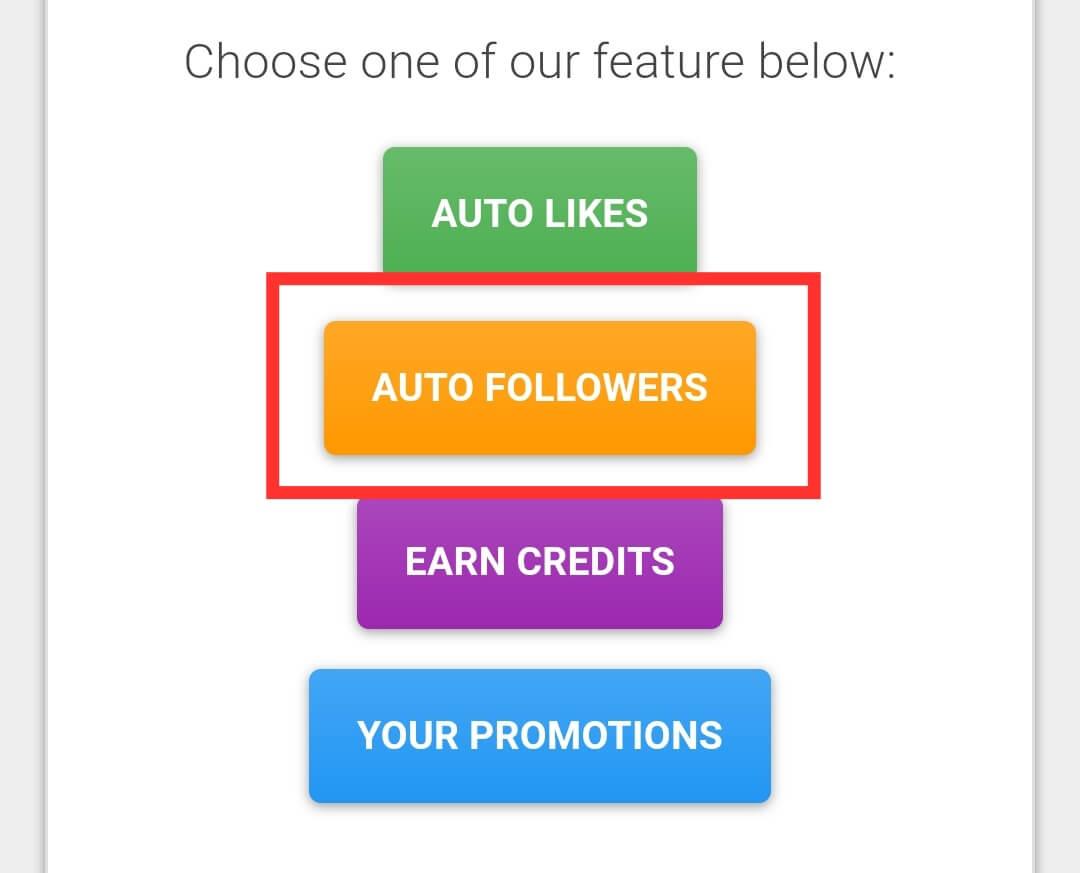 Choose Auto Followers