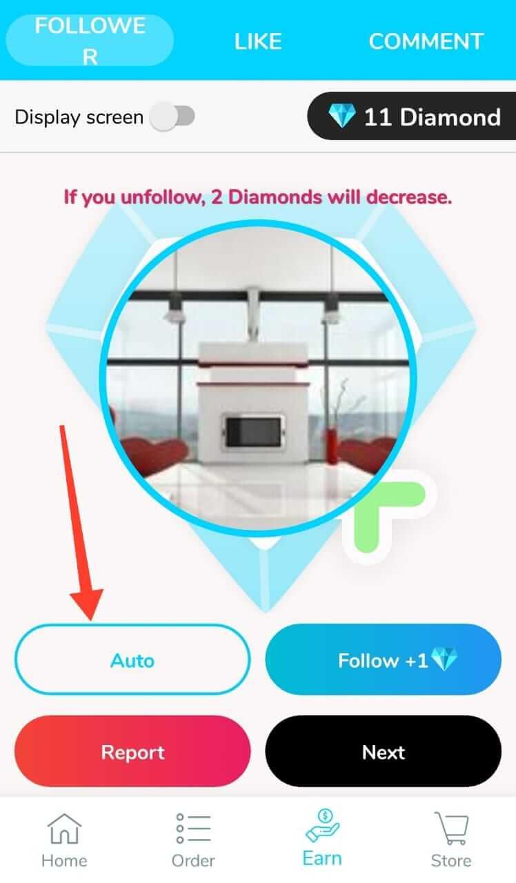Auto Collect Diamonds